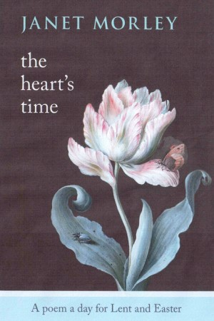 A pink rose on the front cover of The Heart's Time